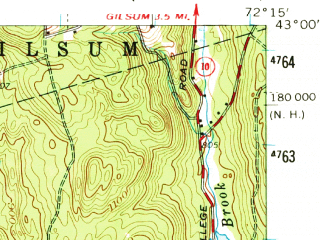 Reduced fragment of topographic map en--usgs--063k--056046--(1958)--N043-00_W072-30--N042-45_W072-15 in area of Spofford Lake; towns and cities Keene, West Swanzey, Winchester, Hinsdale