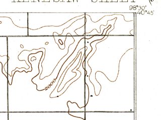 Reduced fragment of topographic map en--usgs--063k--056086--(1894)--N040-45_W098-45--N040-30_W098-30; towns and cities Juniata, Kenesaw, Prosser