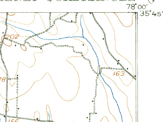 Reduced fragment of topographic map en--usgs--063k--056088--(1902)--N035-45_W078-15--N035-30_W078-00 in area of Buckhorn Lake; towns and cities Micro, Pine Level, Kenly