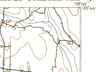 Reduced fragment of topographic map en--usgs--063k--056088--(1903)--N035-45_W078-15--N035-30_W078-00 in area of Buckhorn Lake; towns and cities Kenly, Lucama, Micro