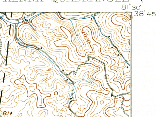 Reduced fragment of topographic map en--usgs--063k--056090--(1906)--N038-45_W081-45--N038-30_W081-30; towns and cities Sissonville
