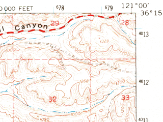 Reduced fragment of topographic map en--usgs--063k--056196--(1961)--N036-15_W121-15--N036-00_W121-00; towns and cities King City