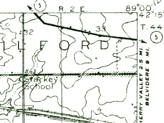 Reduced fragment of topographic map en--usgs--063k--056202--(1917)--N042-15_W089-15--N042-00_W089-00; towns and cities Davis Junction, New Millford, Stillman Valley