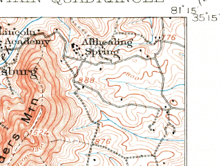 Reduced fragment of topographic map en--usgs--063k--056204--(1906)--N035-15_W081-30--N035-00_W081-15; towns and cities Kings Mountain, Grover, Smyrna