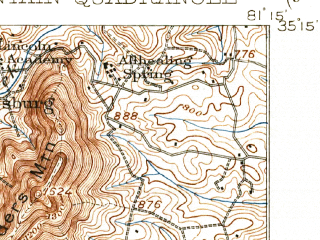 Reduced fragment of topographic map en--usgs--063k--056204--(1908)--N035-15_W081-30--N035-00_W081-15; towns and cities Kings Mountain, Grover, Smyrna
