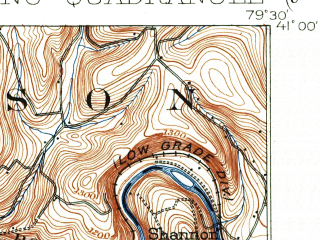 Reduced fragment of topographic map en--usgs--063k--056247--(1902)--N041-00_W079-45--N040-45_W079-30; towns and cities Kittanning, Applewold, West Hills, Chicora