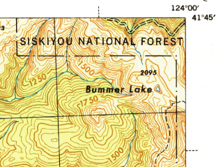 Reduced fragment of topographic map en--usgs--063k--056249--(1945)--N041-45_W124-15--N041-30_W124-00