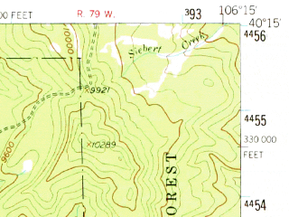 Reduced fragment of topographic map en--usgs--063k--056316--(1956)--N040-15_W106-30--N040-00_W106-15; towns and cities Kremmling