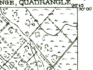 Reduced fragment of topographic map en--usgs--063k--056375--(1956)--N030-00_W097-00--N029-45_W096-45; towns and cities La Grange