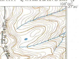 Reduced fragment of topographic map en--usgs--063k--056388--(1908)--N037-30_W108-15--N037-15_W108-00