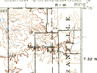 Reduced fragment of topographic map en--usgs--063k--056403--(1937)--N041-15_W089-30--N041-00_W089-15; towns and cities Henry, Lacon, Sparland