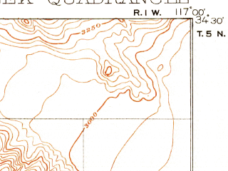 Reduced fragment of topographic map en--usgs--063k--056420--(1902)--N034-30_W117-15--N034-15_W117-00 in area of Lake Arrowhead; towns and cities Lake Arrowhead