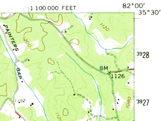 Reduced fragment of topographic map en--usgs--063k--056479--(1959)--N035-30_W082-15--N035-15_W082-00 in area of Lake Lure; towns and cities Lake Lure