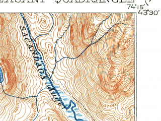Reduced fragment of topographic map en--usgs--063k--056490--(1907)--N043-30_W074-30--N043-15_W074-15 in area of Lake Pleasant