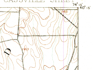 Reduced fragment of topographic map en--usgs--063k--056505--(1888)--N040-15_W074-30--N040-00_W074-15; towns and cities West Freehold, Leisure Village West-pine Lake Park, Cedar Glen West, Lakehurst, Leisure Knoll