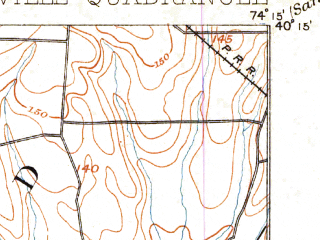 Reduced fragment of topographic map en--usgs--063k--056505--(1900)--N040-15_W074-30--N040-00_W074-15; towns and cities West Freehold, Leisure Village West-pine Lake Park, Cedar Glen West, Lakehurst, Leisure Knoll