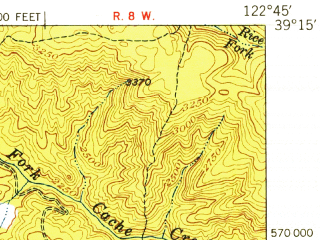 Reduced fragment of topographic map en--usgs--063k--056508--(1951)--N039-15_W123-00--N039-00_W122-45; towns and cities Nice, Lakeport, Lucerne