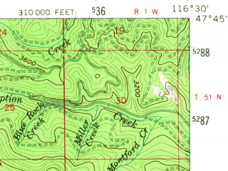 Reduced fragment of topographic map en--usgs--063k--056536--(1957)--N047-45_W116-45--N047-30_W116-30; towns and cities Fernan Lake