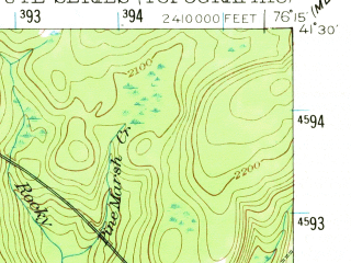 Reduced fragment of topographic map en--usgs--063k--056553--(1953)--N041-30_W076-30--N041-15_W076-15; towns and cities Laporte