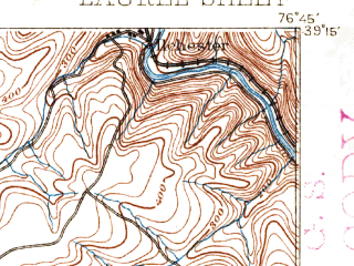 Reduced fragment of topographic map en--usgs--063k--056580--(1892)--N039-15_W077-00--N039-00_W076-45; towns and cities Columbia, Adelphi, South Laurel, Beltsville, Burtonsville