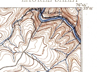 Reduced fragment of topographic map en--usgs--063k--056580--(1897)--N039-15_W077-00--N039-00_W076-45; towns and cities Columbia, Adelphi, South Laurel, Beltsville, Burtonsville