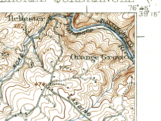 Reduced fragment of topographic map en--usgs--063k--056580--(1926)--N039-15_W077-00--N039-00_W076-45; towns and cities Columbia, Calverton, White Oak, Laurel, Jessup
