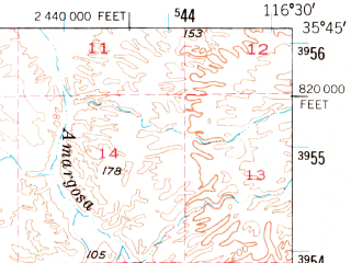 Reduced fragment of topographic map en--usgs--063k--056608--(1948)--N035-45_W116-45--N035-30_W116-30