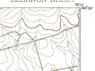 Reduced fragment of topographic map en--usgs--063k--056624--(1893)--N040-30_W076-30--N040-15_W076-15; towns and cities Lebanon, Myerstown, Pleasant Hill, Richland