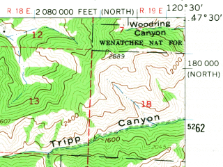 Reduced fragment of topographic map en--usgs--063k--056689--(1961)--N047-30_W120-45--N047-15_W120-30
