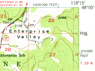 Reduced fragment of topographic map en--usgs--063k--056736--(1948)--N048-00_W118-30--N047-45_W118-15