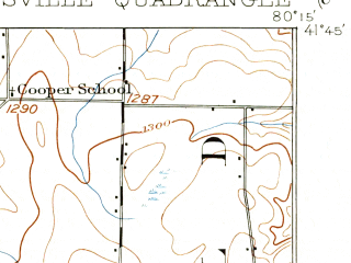 Reduced fragment of topographic map en--usgs--063k--056748--(1906)--N041-45_W080-30--N041-30_W080-15; towns and cities Conneaut Lake, Conneaut Lakeshore, Linesville