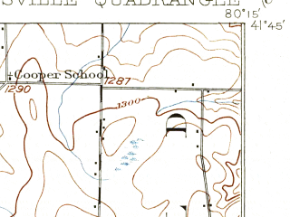 Reduced fragment of topographic map en--usgs--063k--056748--(1908)--N041-45_W080-30--N041-30_W080-15; towns and cities Conneaut Lake, Conneaut Lakeshore, Linesville