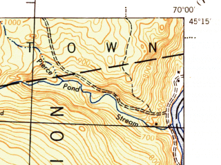 Reduced fragment of topographic map en--usgs--063k--056768--(1944)--N045-15_W070-15--N045-00_W070-00