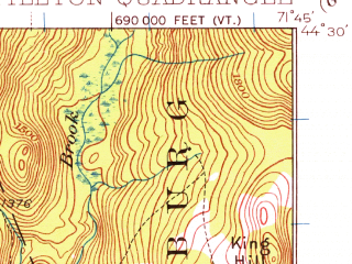 Reduced fragment of topographic map en--usgs--063k--056785--(1932)--N044-30_W072-00--N044-15_W071-45 in area of Moore Reservoir; towns and cities Littleton