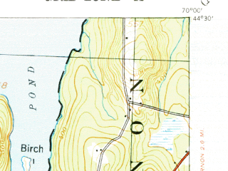 Reduced fragment of topographic map en--usgs--063k--056810--(1941)--N044-30_W070-15--N044-15_W070-00 in area of Androscoggin Lake, Echo Lake, Pocasset Lake; towns and cities Chisholm, Livermore Falls