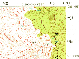 Reduced fragment of topographic map en--usgs--063k--056863--(1958)--N036-45_W118-15--N036-30_W118-00; towns and cities Lone Pine