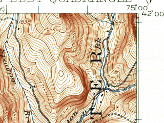 Reduced fragment of topographic map en--usgs--063k--056870--(1920)--N042-00_W075-15--N041-45_W075-00