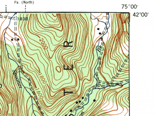 Reduced fragment of topographic map en--usgs--063k--056870--(1944)--N042-00_W075-15--N041-45_W075-00