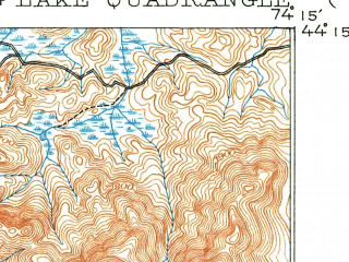 Reduced fragment of topographic map en--usgs--063k--056875--(1904)--N044-15_W074-30--N044-00_W074-15 in area of Follensby Pond; towns and cities Tupper Lake