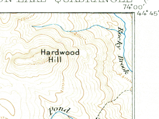 Reduced fragment of topographic map en--usgs--063k--056909--(1906)--N044-45_W074-15--N044-30_W074-00