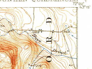 Reduced fragment of topographic map en--usgs--063k--056941--(1930)--N043-15_W072-15--N043-00_W072-00 in area of Highland Lake