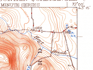 Reduced fragment of topographic map en--usgs--063k--056941--(1942)--N043-15_W072-15--N043-00_W072-00 in area of Highland Lake