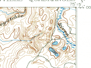 Reduced fragment of topographic map en--usgs--063k--056951--(1911)--N044-00_W075-30--N043-45_W075-15; towns and cities Croghan, Lowville