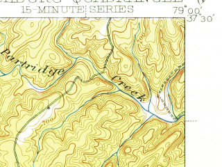 Reduced fragment of topographic map en--usgs--063k--056997--(1944)--N037-30_W079-15--N037-15_W079-00; towns and cities Lynchburg, Timberlake, Madison Heights
