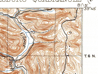Reduced fragment of topographic map en--usgs--063k--057020--(1905)--N039-45_W081-30--N039-30_W081-15; towns and cities Dexter City, Lower Salem, Macksburg
