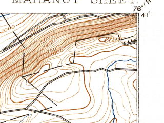 Reduced fragment of topographic map en--usgs--063k--057051--(1893)--N041-00_W076-15--N040-45_W076-00; towns and cities Mahanoy City, Shenandoah, Ringtown, Shenandoah Heights, Tuscarora