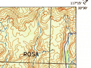 Reduced fragment of topographic map en--usgs--063k--057152--(1942)--N033-30_W117-30--N033-15_W117-15 in area of O' Neill Lake; towns and cities Camp Pendleton North