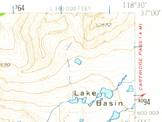 Reduced fragment of topographic map en--usgs--063k--057173--(1953)--N037-00_W118-45--N036-45_W118-30