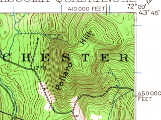 Reduced fragment of topographic map en--usgs--063k--057251--(1927)--N043-45_W072-15--N043-30_W072-00 in area of Mascoma Lake; towns and cities Enfield