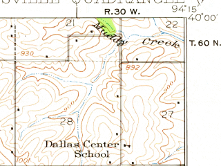 Reduced fragment of topographic map en--usgs--063k--057299--(1923)--N040-00_W094-30--N039-45_W094-15; towns and cities Amity, Maysville, Stewartsville